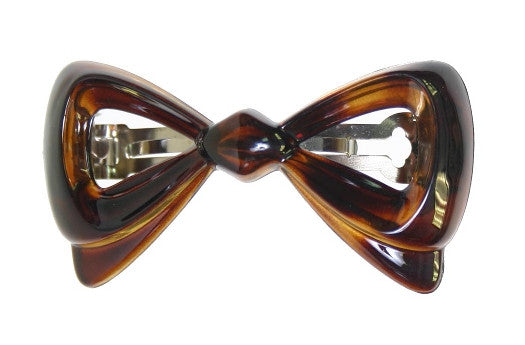 Cut-Out Bow Barrette Tortoise Shell 991
