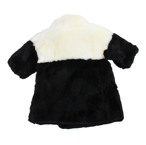 OMAMImini Color Block Faux Fur Coat - Size: 5T - Tristyn's Closet