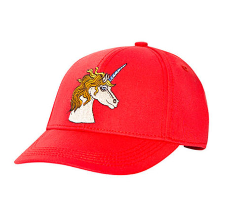 Mini Rodini Red Unicorn Baseball Cap - Size: 48/50CM - Tristyn's Closet