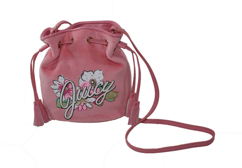 Juicy Couture Pink Paradise Velour Drawsting Bag w/Tags - Tristyn's Closet
