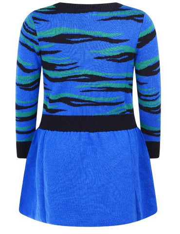 Kenzo Blue Tiger Sweater Dress - Size: 8 - Tristyn's Closet