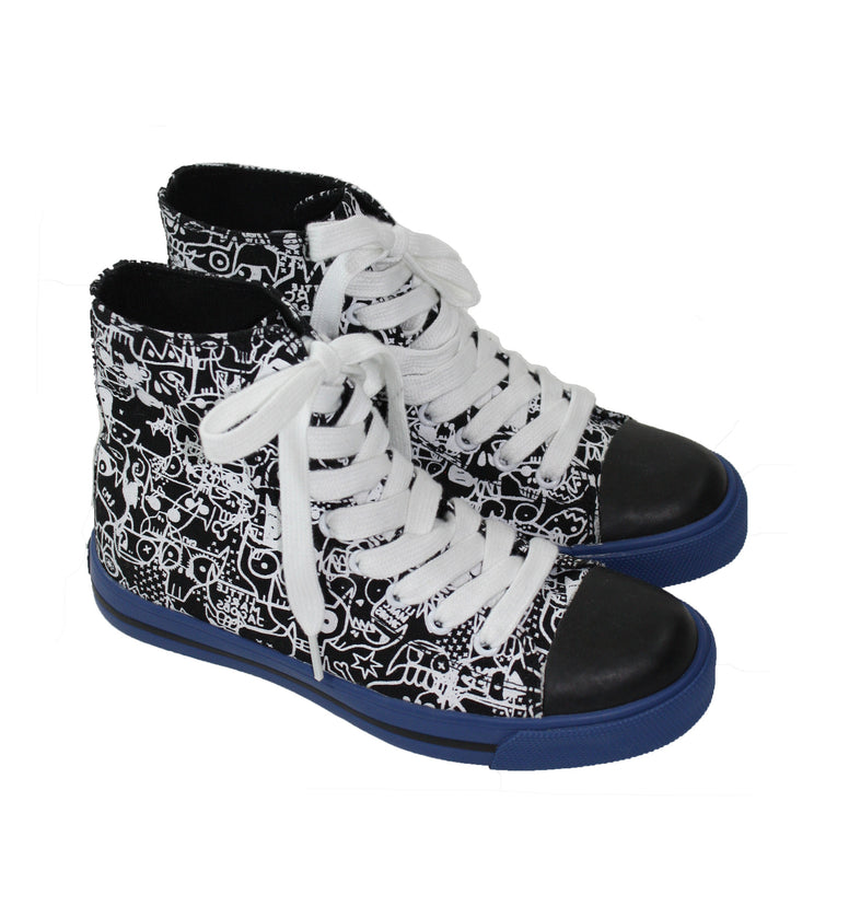 Little Marc Jacobs Canvas High Top Sneakers - Size: 32EU/1US - Tristyn's Closet