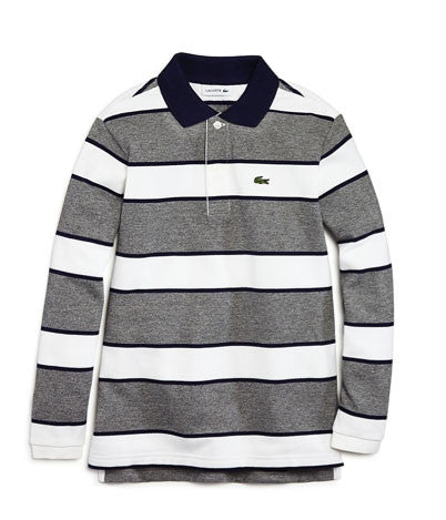 Lacoste Boys' Wide Stripe Long-Sleeve Polo - Size: 8 - Tristyn's Closet