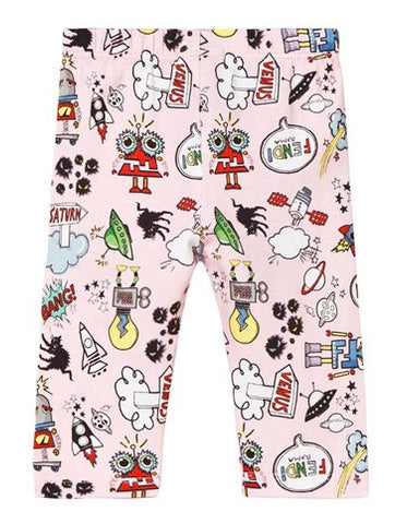 Fendi Baby Girls Space Print Leggings - Size: 9M - Tristyn's Closet