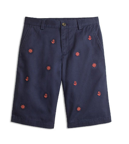 Brooks Brothers Boys' Nautical Embroidered Chino Shorts - Size: 4T - Tristyn's Closet