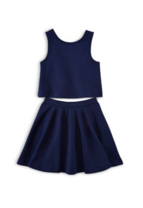 Ralph Lauren Girls Two-Piece Scuba Top & Skirt Set - Size: 6 - Tristyn's Closet