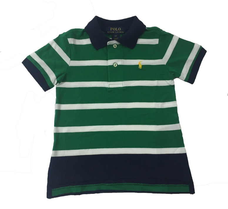 Ralph Lauren Striped Polo Shirt - Size: 2T - Tristyn's Closet