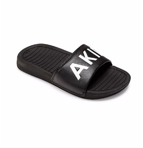 Akid Black Aston Slides - Size: XS (3-5 Toddler) - Tristyn's Closet