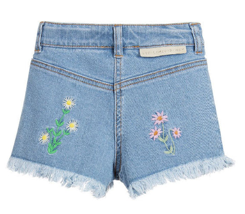 Stella McCartney Kids Floral Embroidered 'Marlin' Shorts - Size: 12 - Tristyn's Closet