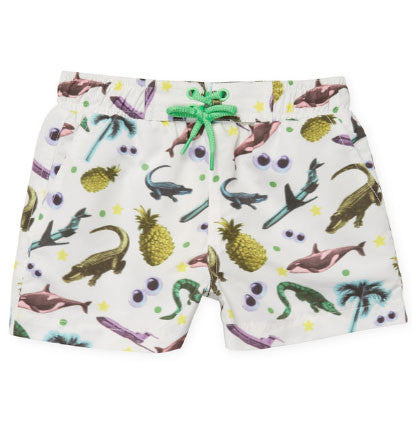 Stella McCartney Kids Pineapple Animal Swim Shorts - Size: 24M - Tristyn's Closet