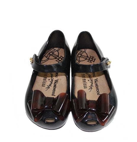 Mini Melissa - Vivienne Westwood Ultragirl Bow Flat - Size: 7 Toddler - Tristyn's Closet