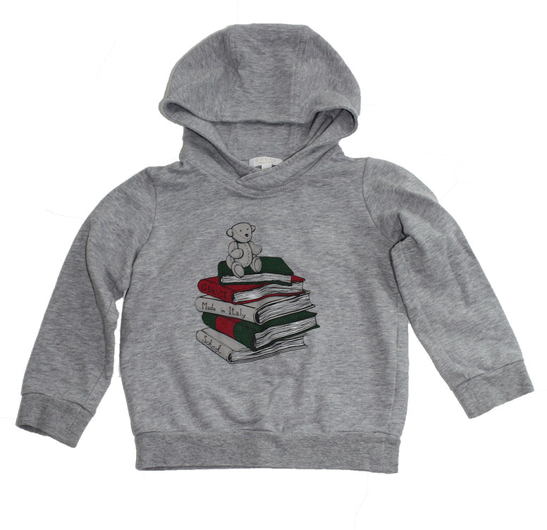 Gucci Bear on Books Hooded Sweatshirt - Size: 12-24M - Tristyn's Closet