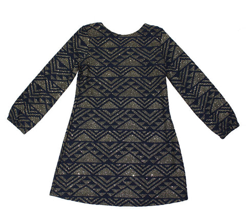 Billieblush Long Sleeve Knit Geometric Print Dress - Size: 6 - Tristyn's Closet