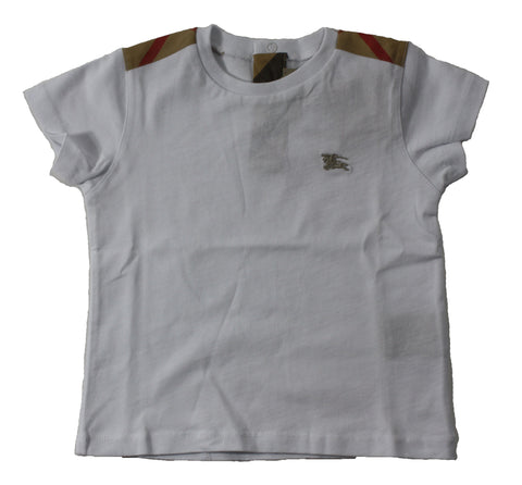 Burberry Check Shoulder Tee - Size: 12M - Tristyn's Closet