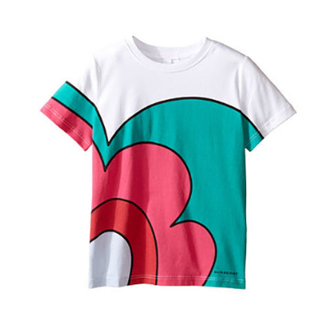 Burberry Kids Floral Swirl Printed Tee - Size: 6 - Tristyn's Closet