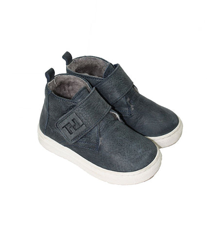 Fendi Faux Fur Lined High-Top Sneaker - Size: 22EU/6US - Tristyn's Closet