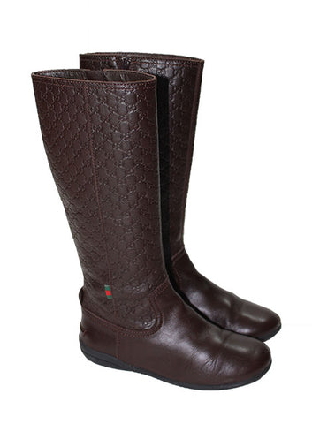 Gucci Girls Embossed High Boot - Size: 29EU/12US - Tristyn's Closet