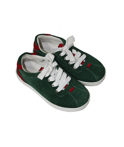 Gucci Suede Lace-Up Sneakers - Size: 23IT/7US - Tristyn's Closet