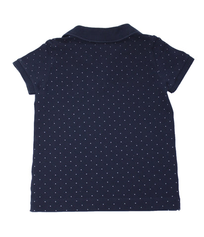Lacoste Girls Holiday Animation Polka Dot Polo Shirt - Size: 8 - Tristyn's Closet