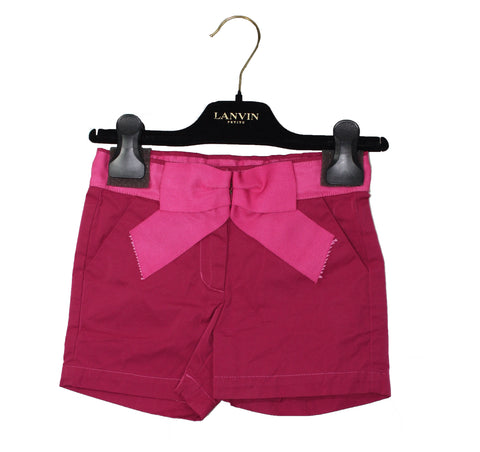Lanvin Petite Girls' Satin Bow Shorts - Size: 6 - Tristyn's Closet