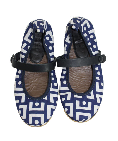 Marni Girls' Geo Patterned Mary Janes - 32EU/1US - Tristyn's Closet