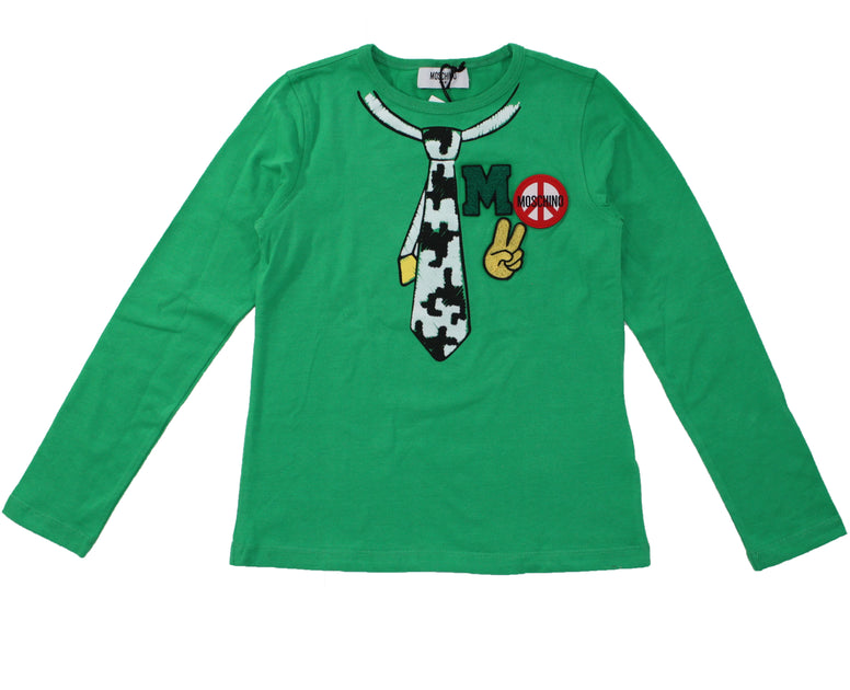 Moschino Patches Long Sleeved Tee - Size: 8 - Tristyn's Closet