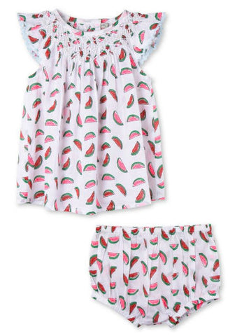 Stella McCartney Kids Watermelon Print Sage Dress - Size: 6M - Tristyn's Closet