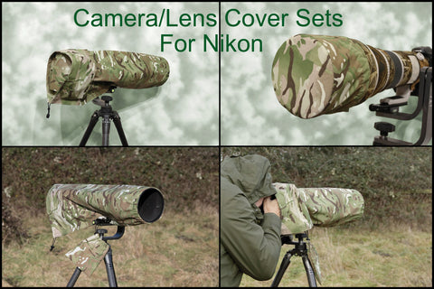 For NIKON lens range SET  Waterproof Multi Camo Camera Lens Cover & CAP