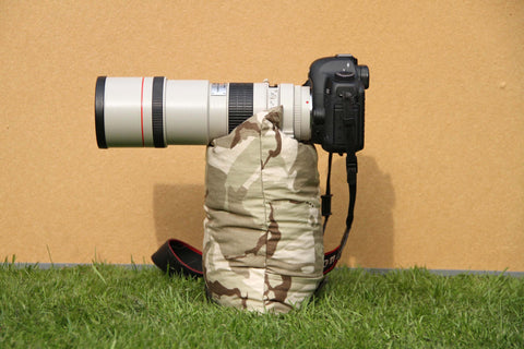 Camera Bean Bag Filled medium size Desert Camo, Size M - 35 cm x 22 cm or 9 x 14 inch, total weight approximately  400 grams