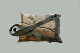WOODLAND CAMO Waterproof Camera Bean Bag, with Shoulder strap Filled/Unfilled with inside Zip Liner