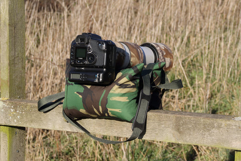 Large Double Filled/Unfilled Camera Bean Bag DPM  Camo Pattern