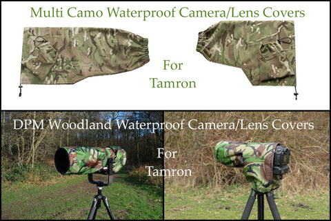For Tamron lens range Multi Camo & DPM Woodland Waterproof Camera Lens Covers