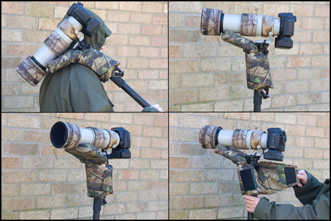 Monopod Shoulder pad Support Woodland Camo with a Fixed/Tilt Plate Mount