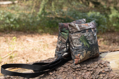 Waterproof Medium Double Filled/Unfilled CAMERA BEAN BAG TRUE TIMBER KANATI, Black  Pattern Camo Waterproof 500D Cordura