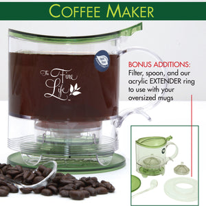 Ideal Loose Tea Infuser & Coffee Brewer - Bottom Dispensing!