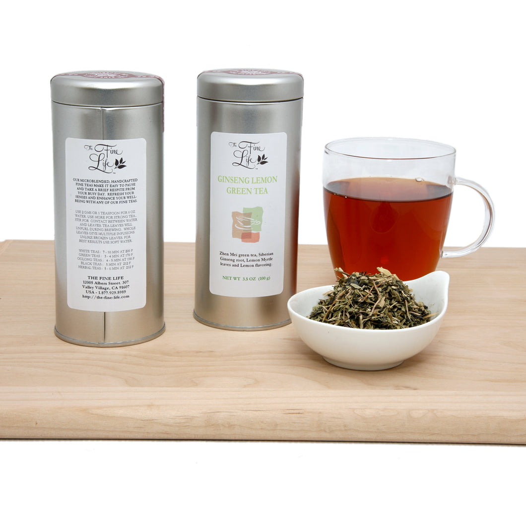 Loose Leaf Green Tea - Ginseng Lemon