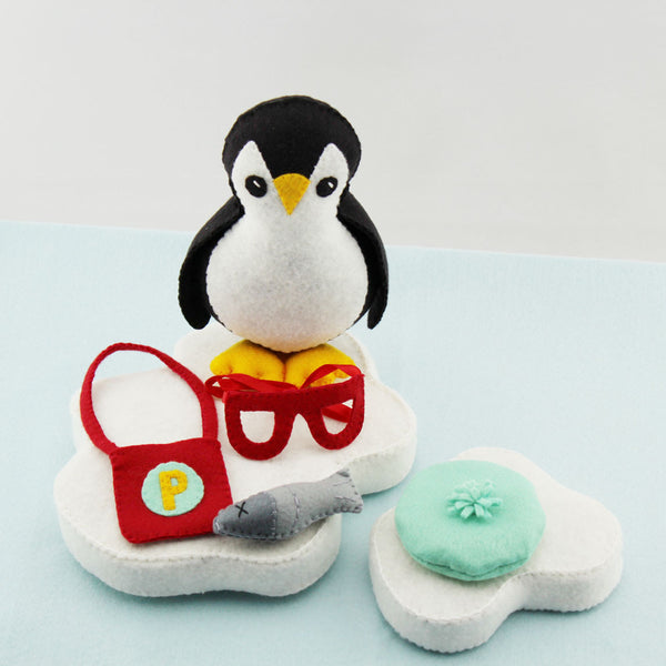 Everyday Accessories Add On Set To Porter The Penguin Felt DIY Digital PDF Pattern