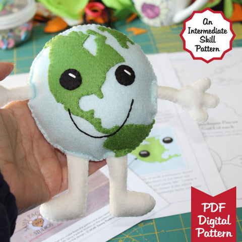 Happy Earth Guy Plush DIY PDF Pattern