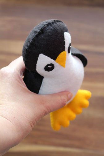penguin plush side top view