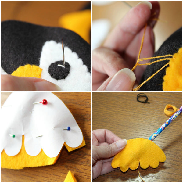 Penguin Plush Step by Step Photos