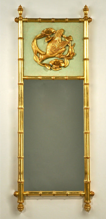 "18 X 46"" Bird Medallion Accented Partridge Mirror"