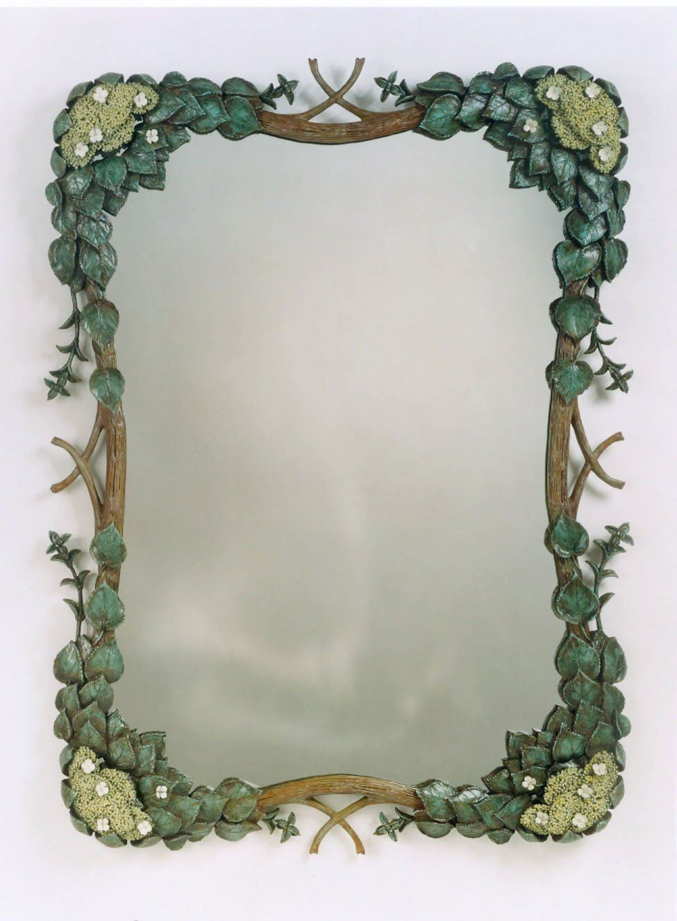"34"" x 46"" Climbing Hydrangea Mirror with Cascading Vines"