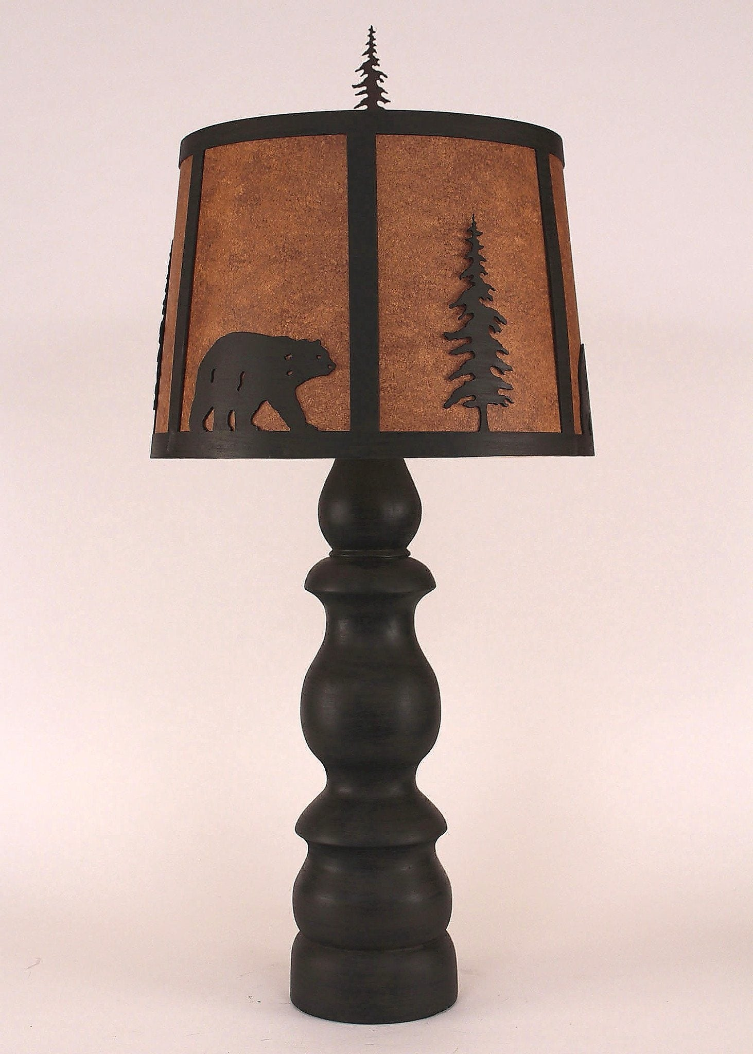 """B"" Pot Base Animal Theme Table Lamp"