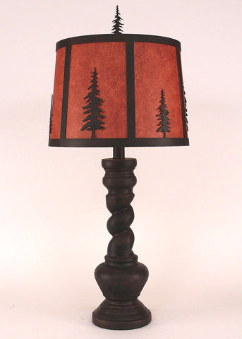 """B"" Pot with Twisted Base Table Lamp"