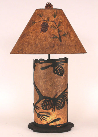 "31.5"" H Large Pine Cone Panel Table Lamp"