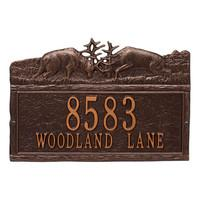 Dueling Bucks Address Plaque