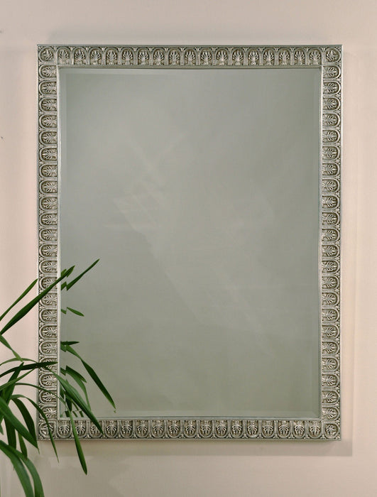 "Egyptian Motif Accented Palmettes Mirror 33.5"" x 43.5"""