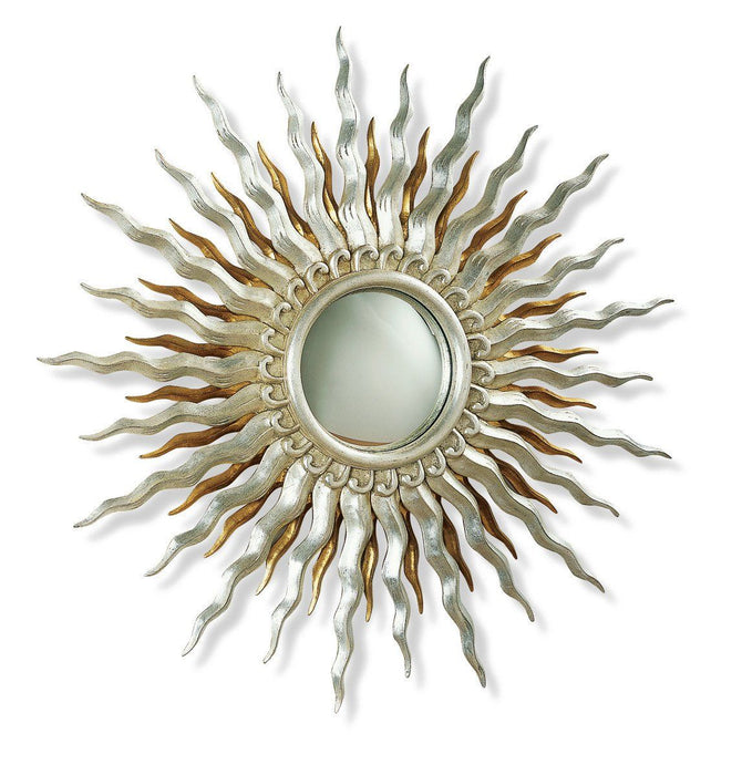 "Sol Double Sunburst Convex Accent Mirror 28"" Diameter"