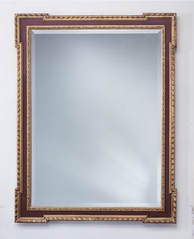 "William Kent Beveled Mirror with Beaded Moldings 36"" x 46"""