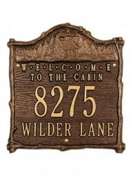 Welcome to the Cabin Personalized Address Plaque